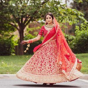 Heavy Indian Wedding Bridal Lehenga, Lengha dress.